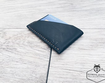 Minimal wallet, Thin card holder, Thin Card Wallet, Thin Leather Wallet, Front Pocket Wallet,