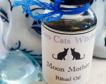 Moon Magick Spell Oil, Moon Mother Ritual Oil, Drawing Down the Moon Oil, Moon Energy Oils, Pagan Moon Ritual, Moon Goddess, Moon Alter Oil