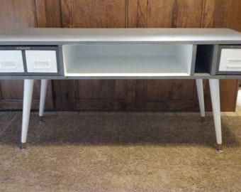 Custom made MCM style side table/ TV stand