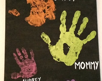 Custom Family Handprint Canvas
