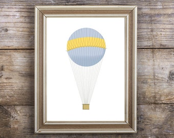 Hot Air Balloon, 8x10, Printable Art, INSTANT DOWNLOAD