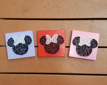 Mini Minnie Mouse String Art Home Decor Disney Nursery Decor or Gift for Her