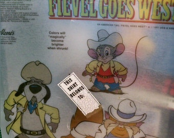 An American Tail 'Shrink It' Plus Iron On for Feivel Goes West