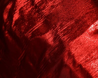 Red metallic fabric