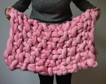 Girls Baby Blanket - Stroller Blanket - Baby Shower Gift - Merino Wool Blanket - Crib Blanket - Baby Gift - Shower Gift
