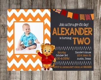 Daniel Tiger Invitation, Daniel Tiger Birthday Invitation, Child's Birthday Invitation, Printable Invitation