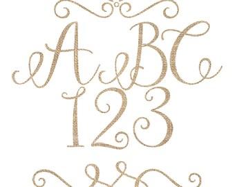 Burlap Alphabet Clipart, Burlap Letter Clipart, Burlap Clipart, Digital Download