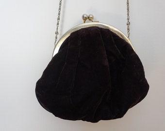 Cute '90s Claire's bag - black velour