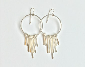Fringe Hoops | Sterling Silver | Gold Fill