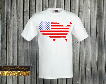 Adult USA  shirt, America Shirt, fourth of July shirt, 4th of July