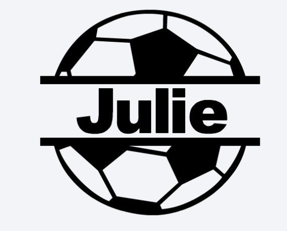 personalized split soccer ball decal vinyl decalsports split soccer ball clipart black and white Small Soccer Ball Clip Art