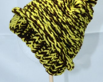 Yellow and Brown Childrens Cap