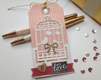 Love Bird Valentine's Gift Tag