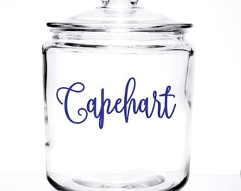 Monogrammed Glass Cookie/Pet Treat  - Name Design
