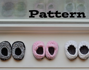 "PDF Pattern - Crochet Shoes for 18 Inch Dolls, Doll Shoe Pattern, 18"" Doll Shoes, American Girl"