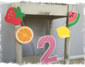 Two-tti Fruity, 2nd Birthday High Chair Banner