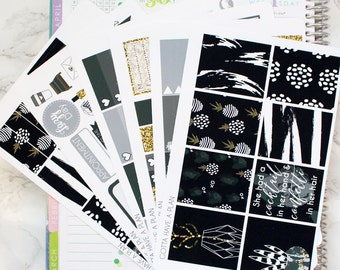 Planner Stickers Glitz & Glam Weekly Kit for Erin Condren, Happy Planner, Filofax, Scrapbooking