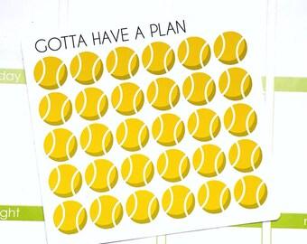 Planner Stickers Tennis Ball for Erin Condren, Happy Planner, Filofax, Scrapbooking