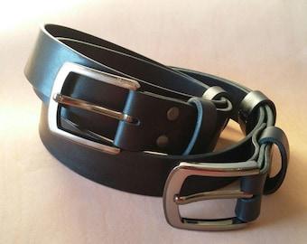 "1 1/2"" genuine leather belt. Genuine leather. Casual belt. 100% Handmade. Top quality."