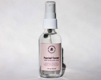 All Natural Facial Toner - Witch Hazel - Toner - Hyaluronic Acid - Facial Care - Face Toner - Natural Skin Care - Bath And Beauty - Skincare