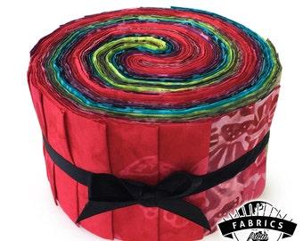 Dragonfruit Pop - Batik Jelly Roll - Quilting Fabric