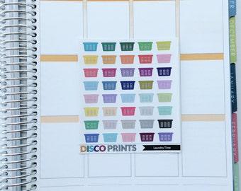 Laundry Baskets (40 Matte Planner Stickers)