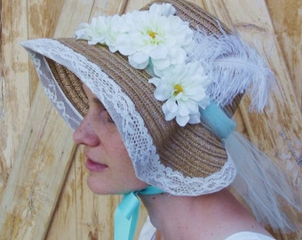 Regency Straw Bonnet or Hat