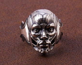 Skinless face ring-925 Silver