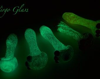 glow in the dark glass spoon