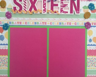 "Sweet 16 12x12"" Scrapbook Page"