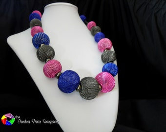 Mesh Bead Necklace