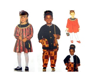 1994 Butterick 3707 Child's or Girls' Jacket, Top, Pants, Dress, Purse and Ponytail Holder, Uncut, Factory Folded Sewing Pattern Size 5-6X