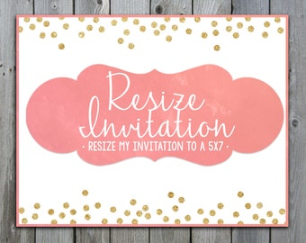 Resize Invitation to a 5 x 7