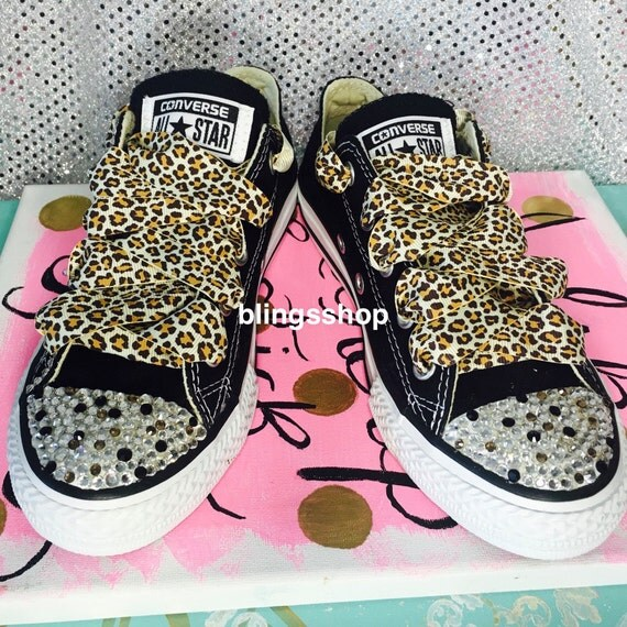5e5fd126de8f durable service Adult Blinged Swarovski Converse Shoes Crystallized by  Blingsshop