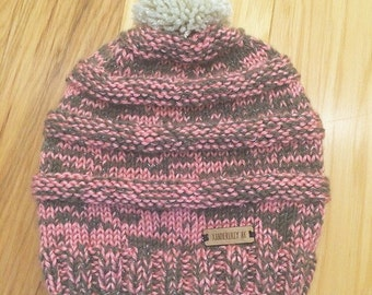 Two-toned Knit Purl hat