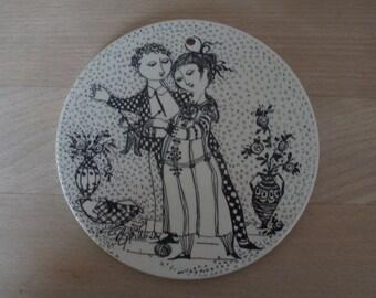 November porcelain platter – Bjørn Wiinblad – 3013-11