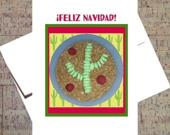 Spanish Christmas Card, Funny Christmas Card, Spanish Card, Feliz Navidad, Cereal, Humor Card, Xmas Card, Funny Card