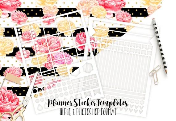 planner sticker templates personal use blank diy sticker sheet