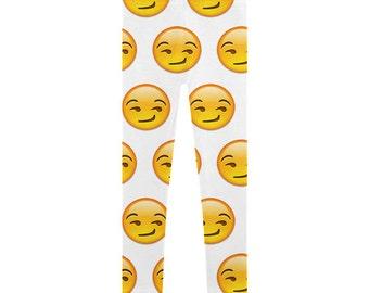 Emoji Smirk Leggings