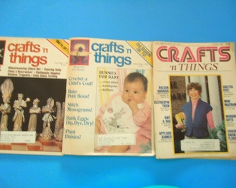 Crafts 'N Things Magazines, Lot of 3, Craft magazine, Learn how to craft magazine