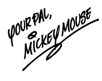 Disney Mickey Mouse Embroidery Signature (4x4)