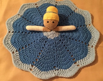 Crochet Cinderella Lovey, Security Blanket