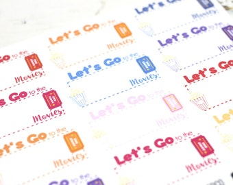 GLOSSY - Let's Go to the Movies! - Planner Stickers (SKU028-G)