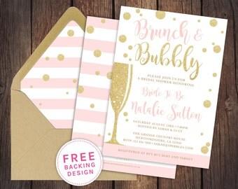 pink and gold wedding invitations | etsy uk, Wedding invitations
