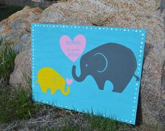 Dream Big For You Are So Loved, Nursery Decor, Handmade Baby Decor