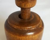 Vintage Handcrafted Miniature Butter Mould - 1930s Shamrock Butter Press - Four Leaf Clover - Good Luck Pattern - Irish Shamrocks -