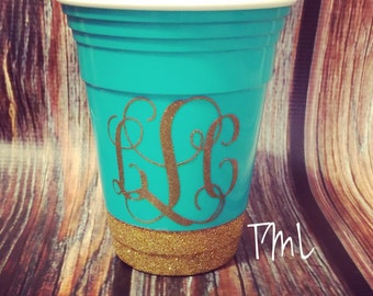 Monogrammed 16oz solo cup/ party cup