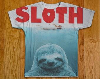 Sloth Tshirt Two Sided Clothing Fan Art HD Anti-Fade