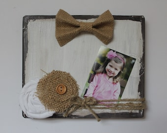 White Photo Block, Shabby Chic Frame, Rustic Picture Frame, Bridesmaid Gift