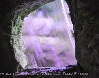Purple Waterfall 8x10 glossy print